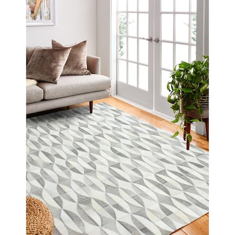 Jabez Contemporary Hand Stitched Area Rug