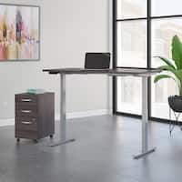 Move 60 by Bush Business 72W x 30D Height Adjustable Desk with File