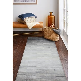 "Julian Cowhide Area Rug - 2'6"" x 8' Runner"