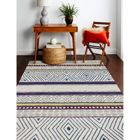 Tenafly Contemporary Hand Tufted Area Rug