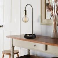 Shop Antique Brass 1 Light Table Lamp On Sale Free