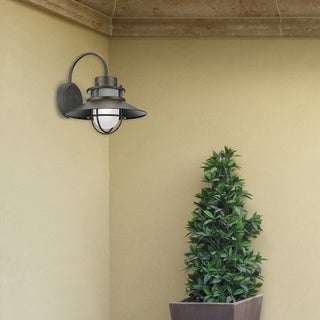 Liam 1-Light Bronze Outdoor Wall Mount Sconce