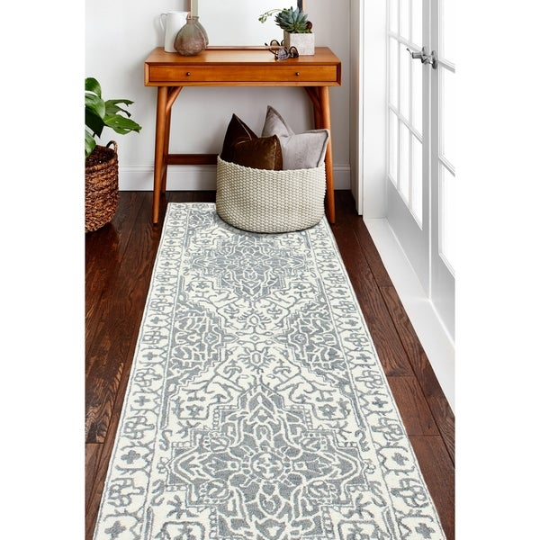 Abena Transitional Hand Tufted Area Rug. Opens flyout.