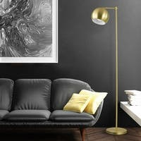 "Molly 60"" Floor Lamp, Gold, Satin Finish, In-Line On-Off Switch"
