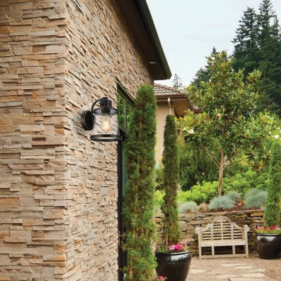 Charlie Outdoor Wall Sconce, LED Bulb Included