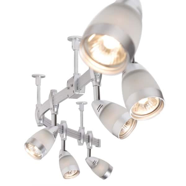 Flexigon 6 Light Brushed Steel Flexible Track Lighting