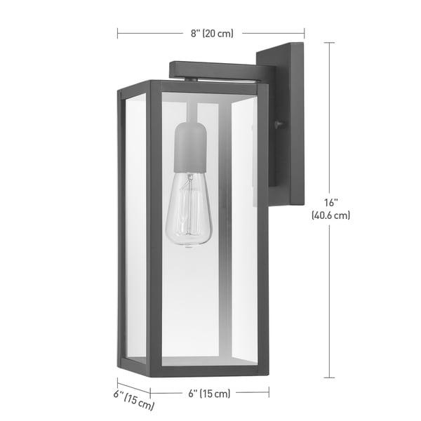 Copper Grove Zhytomyr Matte Black /Glass Indoor/Outdoor 1-light Sconce