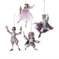 Kurt Adler 6-Inch Nutcracker Suite Ornaments, Set of 4