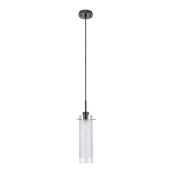 Porch & Den Anna Belle Clear Glass/ Frosted Glass Insert 1-light Pendant. Opens flyout.