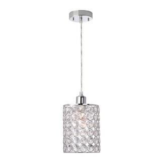 Trenton 1-Light Mini Pendant, Caged Crystal Shade - Chrome