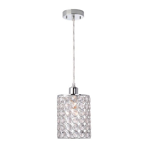 Trenton 1-Light Mini Pendant, Caged Crystal Shade. Opens flyout.
