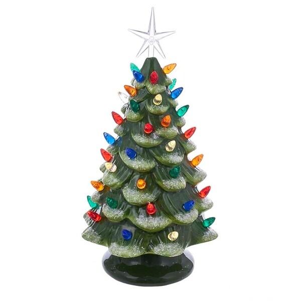 Lead Free Christmas Trees: Shop Kurt Adler 12.8-Inch Battery-Operated LED Ceramic