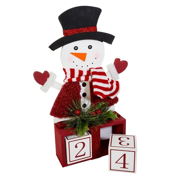 Kurt Adler 15 Inch Countdown To Christmas Snowman Calendar Free Shipping Today 22887484