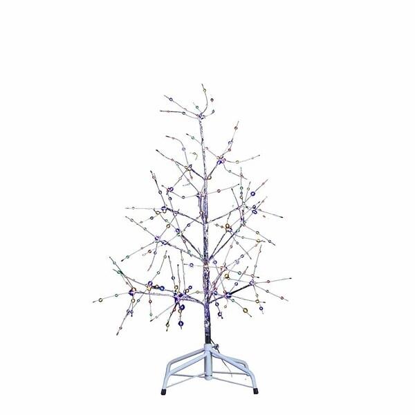 Shop Kurt Adler 3 Feet Silver Bark Multi Colored Fairy Lights Tree