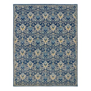 "Scanda Marlowe Blue Area Rug (7'10"" x 10') by Gertmenian - 7'10 x 10'"