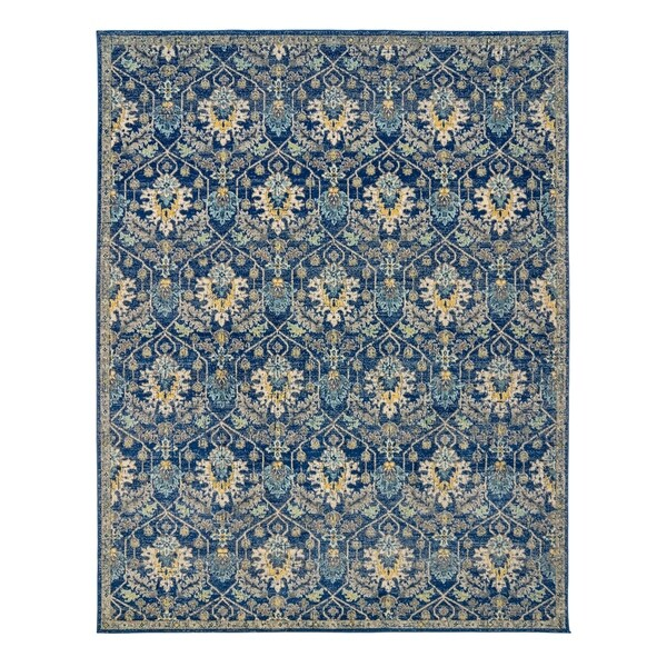"Scanda Marlowe Blue Area Rug (7'10"" x 10') by Gertmenian - 7'10 x 10'"