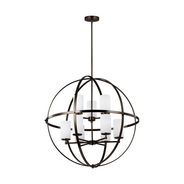 Shop Alturas Brushed Oil Rubbed Bronze 9 Light Led Chandelier