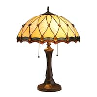 Chloe Tiffany Style 2-light Dark Bronze Table Lamp