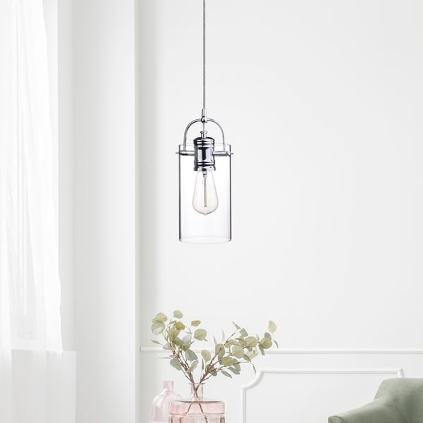 James 1-Light Polished Chrome Plug-In or Hardwire Pendant