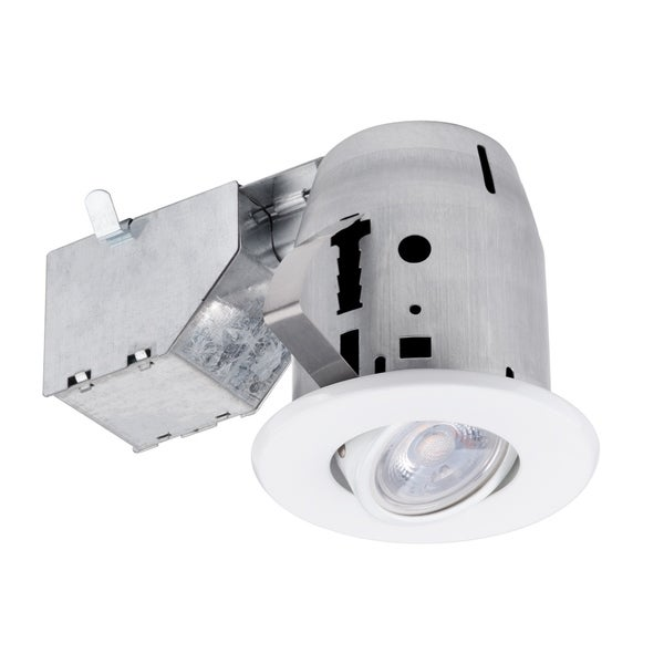 """Best Rated Led Shop Lights: Shop 3"""" LED IC Rated Swivel Round Trim Recessed Lighting"""