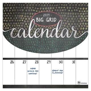 2019 Big Grid - Chalk Wall Calendar