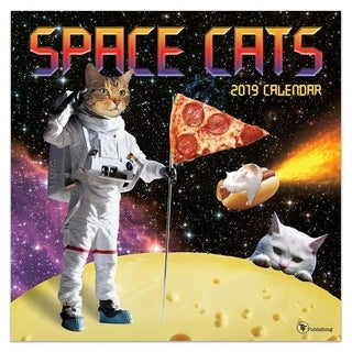 2019 Space Cats Wall Calendar
