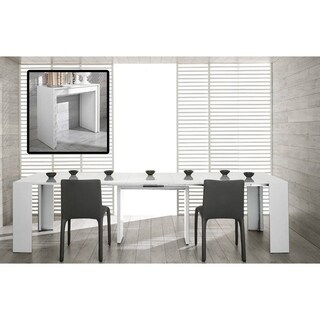 Morph Ultra-Compact Extendable White Dining Table Transformer