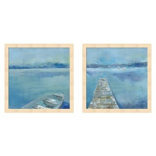 Sue Schlabach 'Lake Edge' Framed Art (Set of 2)