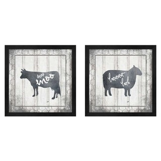 LightBoxJournal 'My Farm My Way' Framed Art (Set of 2)