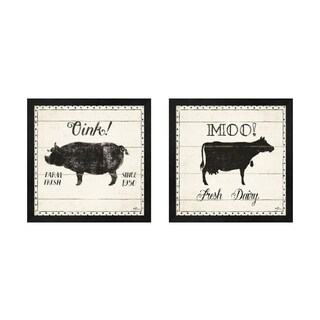 Janelle Penner 'Country Thoughts A' Framed Art (Set of 2)