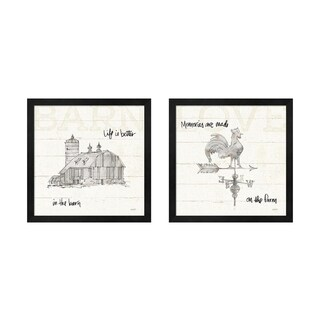 Anne Tavoletti 'Farm Memories B' Framed Art (Set of 2)