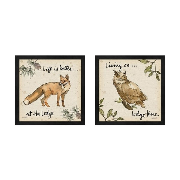 Shop Anne Tavoletti \'Lodge Life\' Framed Art (Set of 2) - Free ...
