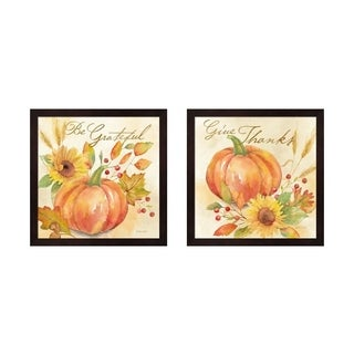 Cynthia Coulter 'Welcome Fall' Framed Art (Set of 2)