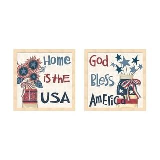 Anne Tavoletti 'American Country' Framed Art (Set of 2)