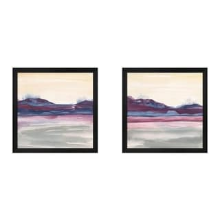 Chris Paschke 'Purple Rock Dawn' Framed Art (Set of 2)