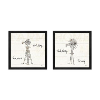 Anne Tavoletti 'Farm Memories A' Framed Art (Set of 2)