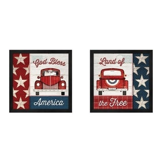 Jennifer Pugh 'God Bless America & Land of the Free' Framed Art (Set of 2)