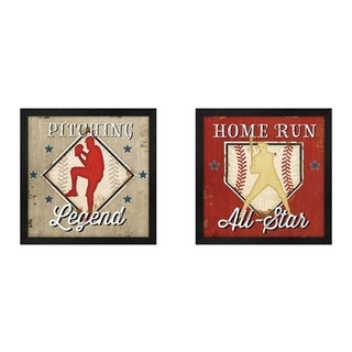 Jennifer Pugh 'Legend & Home Run' Framed Art (Set of 2)