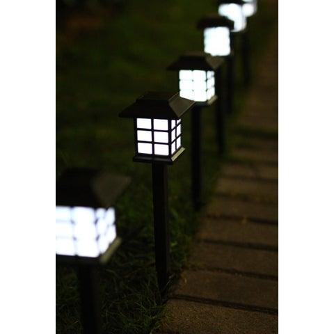 Outdoor Solar Light Pathway Lights - 6 Piece Set