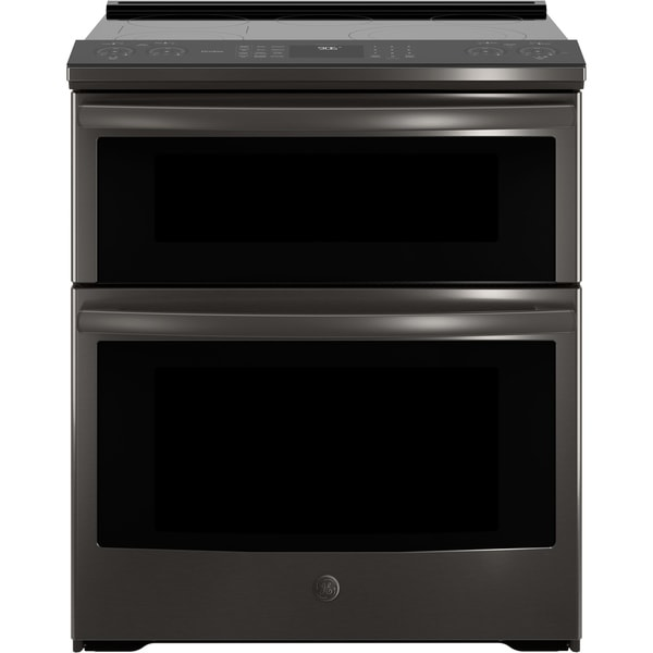 shop ge profile series 30 slide in electric double oven convection range free shipping today. Black Bedroom Furniture Sets. Home Design Ideas