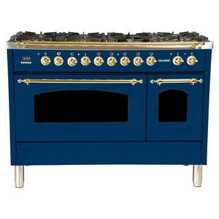 "48"" Dual Fuel Italian Range, LP Gas, BSTrim in Blue"