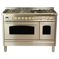 "48"" Dual Fuel Italian Range, BSTrim in Stainless Steel"