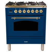 "30"" Italian Gas Range, BSTrim in Blue"