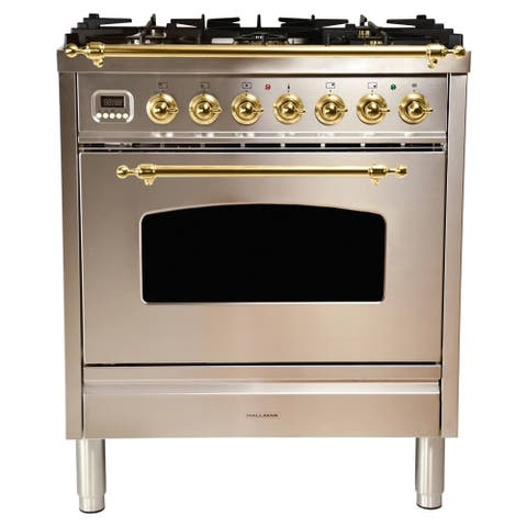 "30"" Dual Fuel Italian Range, BSTrim in Stainless Steel"