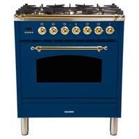 "30"" Dual Fuel Italian Range, LP Gas, BSTrim in Blue"