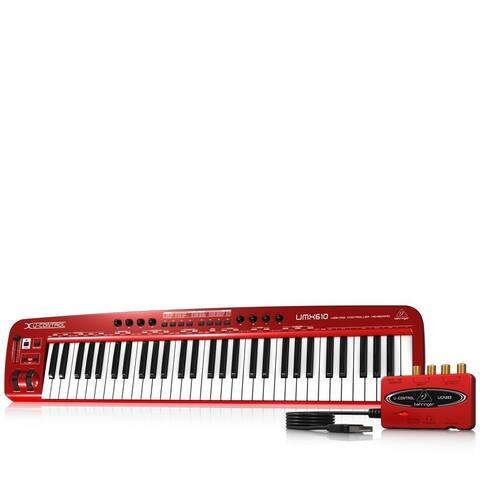 Behringer UMX610 61-Key USB/MIDI Controller Keyboard w/Separate USB/Audio Interface