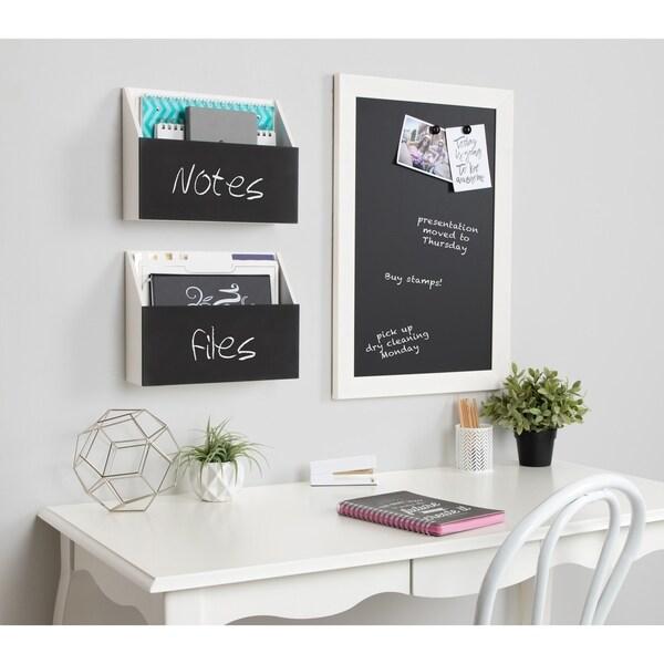 Kate and Laurel Benbrook Pocket Shelves with Chalkboard - 2 Piece
