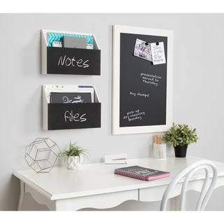 Kate and Laurel Benbrook Pocket Shelves with Chalkboard - 2 Piece