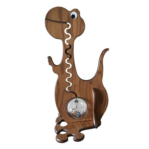 Dinosaur Piggy Bank - Handmade by Amish Craftsman from Solid Oak