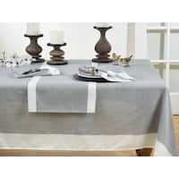 Poly Tablecloth With Banded Border